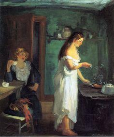 John Sloan (American, 1871-1951)    Three A.M., 1909