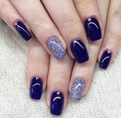74 Best Navy Blue Nails Images In 2019 Fingernail Designs Blue