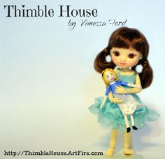 Amelia Thimble Doll: Alice in Wonderland   by Etheria Dolls and Thimble House