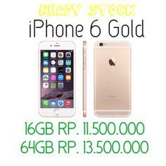 Ready Stock iPhone 6 16Gb & 64Gb Gold   Get Free  1. Jelly Case  2. Ubox antismash  3. Bali Money Saver Card  4. Tongsis/Lazypod/Waterproof Pouch* *pilih salah satu   Free 4 item setiap pembelian iPhone 6 , so tunggu apalagi , yuk segera ke store iPhoneBali  Pembayaran juga bisa Cash dan kredit juga Nakula Timur 18A Kuta & Seroja 36 Denpasar  Happy Shopping  More info :  ☎ 499201 , 415036  ecommerce@iphonebali.com Sms : 081999123010 BBM : 5196E24F, 74834CB4 LINE : iphonebali