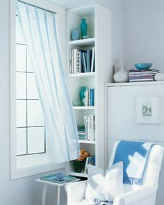 """See the """"Ribbon-Striped Sheer Curtains"""" in our Shades and Curtains gallery"""