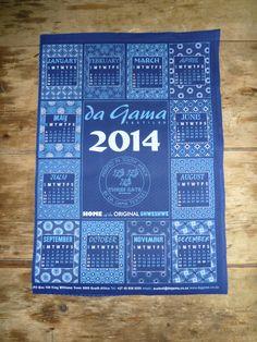 Indigo shweshwe calendar from Da Gama Textiles in South Africa