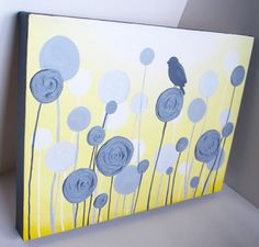 Textured+Yellow+and+Grey+Nursery+Art++Impasto+by+MurrayDesignShop,+$69.00