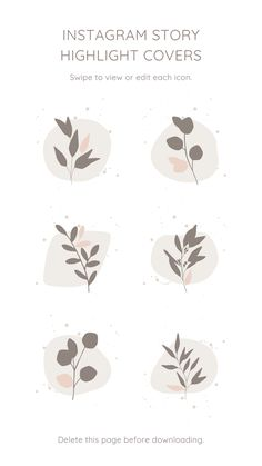 Floral Instagram Story Highlight Icons – Canva Template #instagram #story #template #canva #canvapro #minimalist #minimal #simple #beauty #cosmetic #elegant #chic #design #social #media #feminine #highlight #icon #flower #flowers #leaf #leaves #diy #cover
