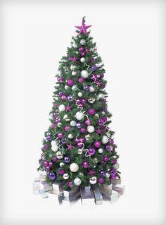 Celebration Christmas Tree  #christmas #tree #hire #rental #purple #pink #silver