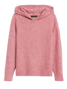 An sporty sweater crafted with a specially spun yarn of warm Merino wool and a touch of luxurious alpaca for extra softness. Hoodie.  Long sleeves. Straight hem. Boxy fit. Long sleeves. Cropped length - designed for high-waisted styles. Body length (size S): Petite 21. 5'' , Regular 22. 5'' Sleeve length: Petite 29'' , Regular 30'' Model: Size XS, 5'10''  (178cm).