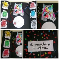 Lapbook el monstruo de colores. Cole Manuel Antón, Mutxamel. Spanish Colors, Teacher Binder, Feelings And Emotions, Monster, Social Skills, Kindergarten, Preschool, Arts And Crafts, Activities