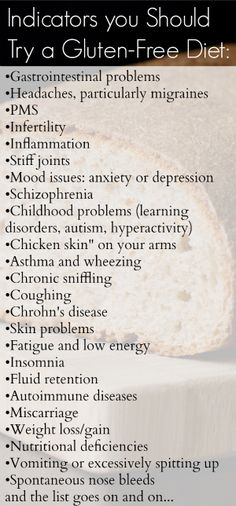I show signs of being allergic to gluten so I follow some of these indications to get away from a bad diet.