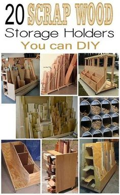 20 Scrap Wooden Storage Holders You Can DIY. >>> Look into more by going to the photo