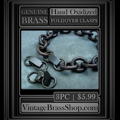 3PC LARGE #VINTAGE #UNISEX FOLD OVER CLASPS    #Handoxidized with deep brown to brown/black patina.    The jump rings are solid, thick brass (14g) and measure 12mm OD, 9mm ID    The #foldover #clasp #snaps into #place and #closes securely.    I highly recommended this finding! | Shop this product here: http://spreesy.com/VintageBrassShop/2 | Shop all of our products at http://spreesy.com/VintageBrassShop    | Pinterest selling powered by Spreesy.com