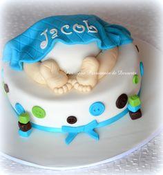 Baby boy shower cake Gâteau shower bébé garçon