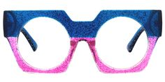 No matter who you are, Voogueme could meet your needs. These geometric glasses are made of durable materials with blue and pink color. These cheap glasses could provide a unique look for you. Blue Brown, Green And Grey, Bright Pink, Pink Blue, Lab, Prescription Glasses Online, Optical Glasses, Retro Sunglasses, Plastic Material