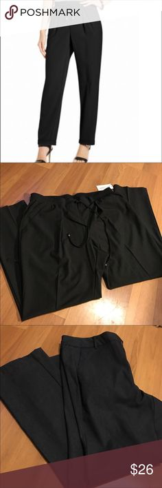 "💥 Gorgeous Pants 💥 BNWT slinky, comfy pants. Elastic waist with drawstring and silver end caps. Loose fit with tapered leg. Gorgeous, classy pants for work or night on town! 28"" inseam. 🤗 *** re-Psh because they're too big on me 😢 NY Collection Pants"
