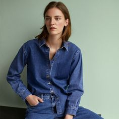 The classic shirt gets a casual twist in this denim style by Boutique. Crafted in a rich cotton, it comes detailed with a crisp collar and button down placket. Finished with a shaded pocket detailing to the front, we love it styled with mensy trousers for off-beat cool. #Topshop