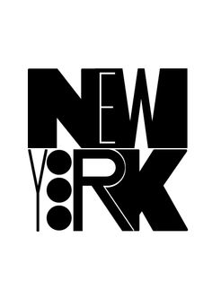 Show us your type project: New York poster by Petr Kay