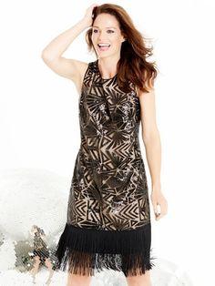 M&Co. Women Sequin embellished flapper dress