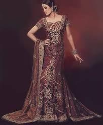 Resultado de imagen de pakistani wedding dresses  maroon