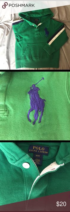 Ralph Lauren hoodie size 4T Very gently used hoodie size 4T by Ralph Lauren in excellent condition. No stains or tears Ralph Lauren Shirts & Tops Sweatshirts & Hoodies