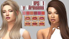 Lips 01 at Viirinsims – Veris via Sims 4 Updates