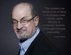 Salman Rushdie - Keep on pushing back on the status quo! Add him to your Endorfyn Likes: www.endorfyn.com/us/home?like=Salman%20Rushdie