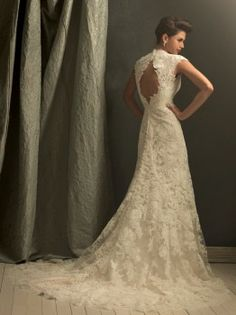 Allure Couture C155 Vintage Lace Wedding Dress -- To die for.
