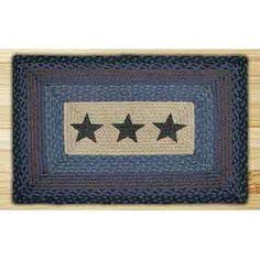 Stars Blue Rectangle Rug 20x30