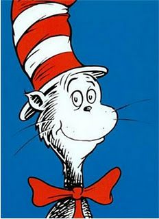 It's the Cat in the Hat singing a Roy G. Biv song.  Who doesn't love it?