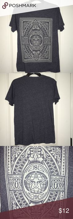 Obey Blue/Grey T-shirt Men's size Small Obey Blue/Grey T-shirt Men's size Small!!! In great condition!!! No Trades! No Merc! Open To All Offers!!! Obey Shirts Tees - Short Sleeve