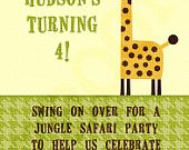 Jungle Party Invitation - Jungle Birthday Party Invitation - Safari Baby Shower Invitation -Safari Party Printable - Junble Baby Shower