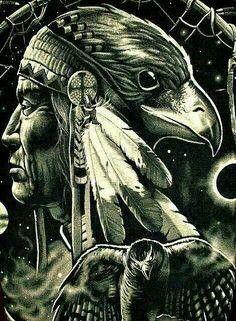 Spirit Guides, Native American Art by yvette Native American Tattoos, Native Tattoos, Native American Pictures, Native American Artwork, American Indian Art, Native American History, American Indians, American Symbols, Native American Spirituality