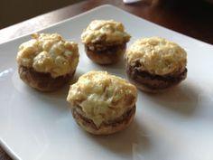 Stuffed Mushrooms with white wine, cream cheese, garlic, oregano. #vegetarian, appetizer for party