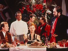 Alan Howard, Richard Bohringer, Helen Mirren and Michael Gambon consider what or who is on tonights menu. The Cook, The Thief, His Wife & Her Lover (Peter Greenaway with fashion by JEAN PAUL GAULTIER Michael Gambon, Helen Mirren, The Princess Bride, Cinema Quotes, Boogie Nights, Chefs, Expo 2015, Love Movie, The Godfather