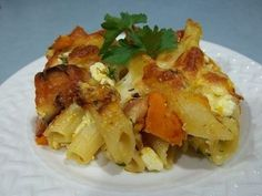 Baked Pasta with Feta and Pumpkin recipe