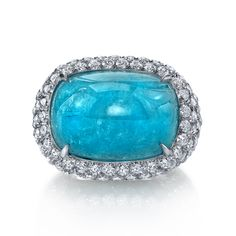 Leon Mege Paraiba tourmaline and diamond ring. Description from pinterest.com. I searched for this on bing.com/images