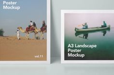 This is a very clean A3 psd poster mockup in landscape and portrait to let you showcase your graphic designs in...