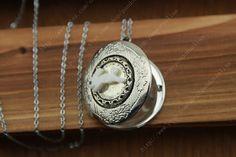Alice in Wonderland Rabbit  locket necklace by pandoraalina, $2.90