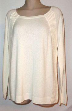 NWT VINEYARD VINES Cashmere Blend Textured Raglan Sweater IVORY - Large #VineyardVines #RaglanSweater #Casual