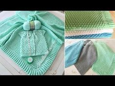 How to Make Baby Blanket with Bonbon Candy Knitting Model? (From the beg. Baby Blanket Crochet, Crochet Baby, Knit Crochet, Kids Blankets, Knitted Blankets, Baby Knitting Patterns, Crochet Patterns, Baby Dress, Magic Circle Crochet