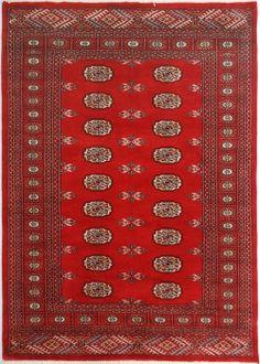 "Red Bokhara Persian Rug 4' 1"" x 5' 10"" (ft) http://www.alrug.com/9600"