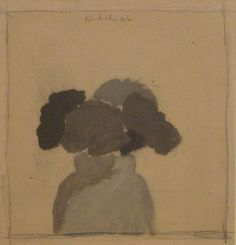 Untitled 1962 oil and graphite on paper mounted on board 8 x 7 1/2 inches