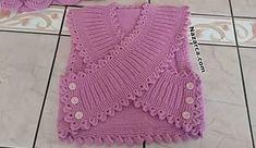 24 İLMEK İLE BAŞLAMALI 1-2 YAŞ BEBEK BOLERO TARİFİ Crochet Motif, Crochet Designs, Crochet Top, Baby Jumper, Baby Vest, Baby Knitting Patterns, Kids Dress Wear, Blog, Life