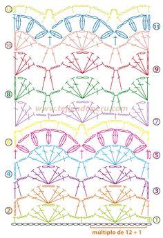 Cómo tejer un punto en dos colores y hebras a crochet