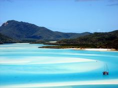 Whitehaven Beach, Australia is the most beautiful beach in the world!! It's an island outside the east coast, and it's just magnificent. It's actually more beautiful than the Maldives. It's a national park, so a sailboat is to recommend.