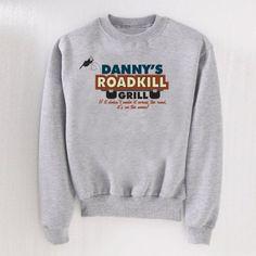 Personalized RoadKill Grill Sweatshirt, Size: Medium, Gray