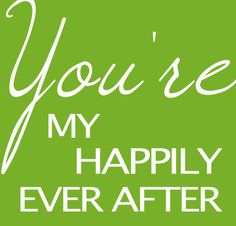 You're my happily ever after newlywed art print by westeightythird, $20.00