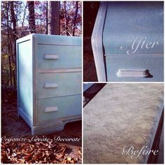Painted furniture using Paint Couture!(TM) #paintedfurniture #paintcouture by Alicia Slayton of Organize Create Decorate.  She teaches classes!