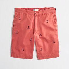 "Factory 9"" embroidered Gramercy short - Gramercy Shorts - FactoryMen's Shorts & Swim - J.Crew Factory"