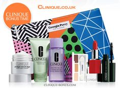 Yours free with any £45+ order online on Clinique.co.uk website. Enter promo code EXCLUSIVE. more info: http://clinique-bonus.com/united-kingdom/
