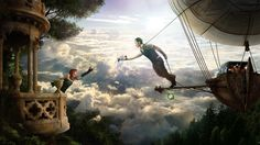 Steampunk Airship | romance, steampunk, clouds, airship wallpapers and images - download ...