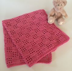 New to LittleMonkeyShop on Etsy: Baby Blanket Handmade Girl Boy Crochet Merino Wool Many Colors Welcome to the World Baby Blanket Design (125.00 USD)